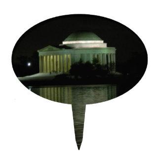 Thomas Jefferson Memorial at Night Cake Picks