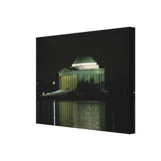 Thomas Jefferson Memorial at Night Canvas Print