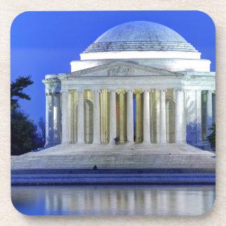 Thomas Jefferson Memorial At Night Coaster