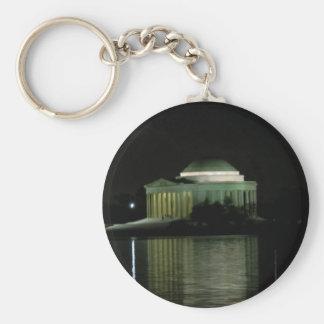 Thomas Jefferson Memorial at Night Keychain
