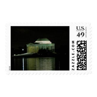 Thomas Jefferson Memorial at Night Stamp