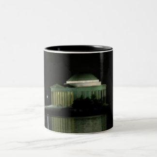 Thomas Jefferson Memorial at Night Two-Tone Coffee Mug