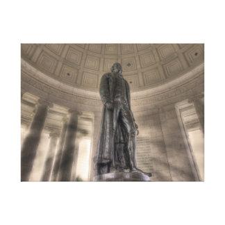 Thomas Jefferson Memorial Bronze Statue Canvas Print