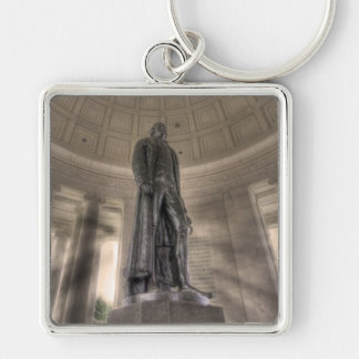 Thomas Jefferson Memorial Bronze Statue Keychain