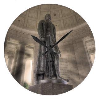 Thomas Jefferson Memorial Bronze Statue Large Clock
