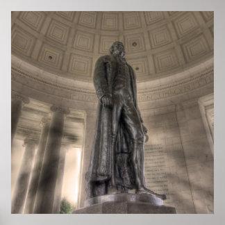 Thomas Jefferson Memorial Bronze Statue Poster