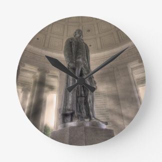 Thomas Jefferson Memorial Bronze Statue Round Clock