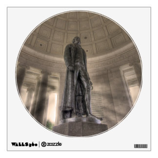 Thomas Jefferson Memorial Bronze Statue Wall Decals