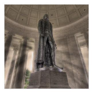 Thomas Jefferson Memorial Bronze Statue Perfect Poster