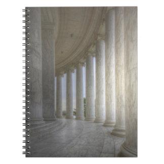 Thomas Jefferson Memorial Circular Colonnade Spiral Note Books