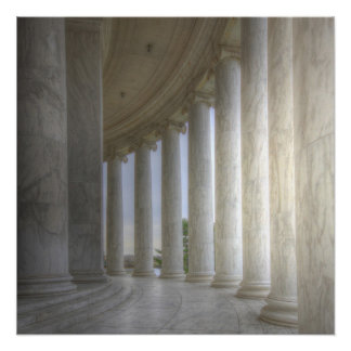 Thomas Jefferson Memorial Circular Colonnade Perfect Poster