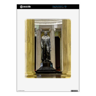 Thomas Jefferson Memorial Statue At Night Decals For iPad