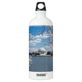 Thomas Jefferson Memorial with Cherry Blossoms Aluminum Water Bottle