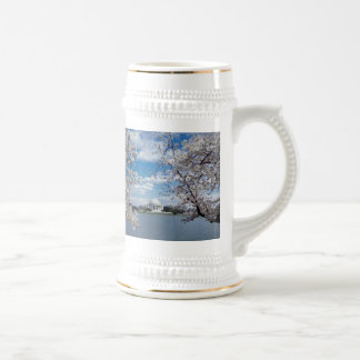 Thomas Jefferson Memorial with Cherry Blossoms Beer Stein