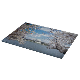 Thomas Jefferson Memorial with Cherry Blossoms Cutting Board
