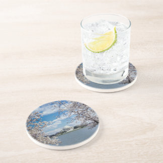 Thomas Jefferson Memorial with Cherry Blossoms Drink Coaster