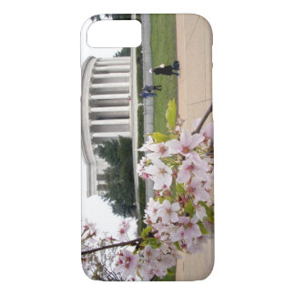 Thomas Jefferson Memorial with cherry blossoms iPhone 8/7 Case