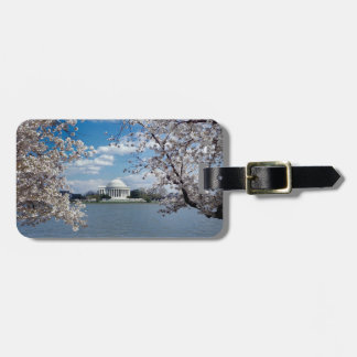 Thomas Jefferson Memorial with Cherry Blossoms Luggage Tag