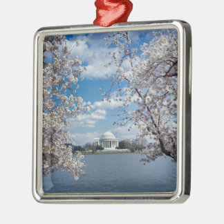 Thomas Jefferson Memorial with Cherry Blossoms Metal Ornament