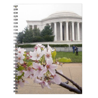 Thomas Jefferson Memorial with cherry blossoms Notebook