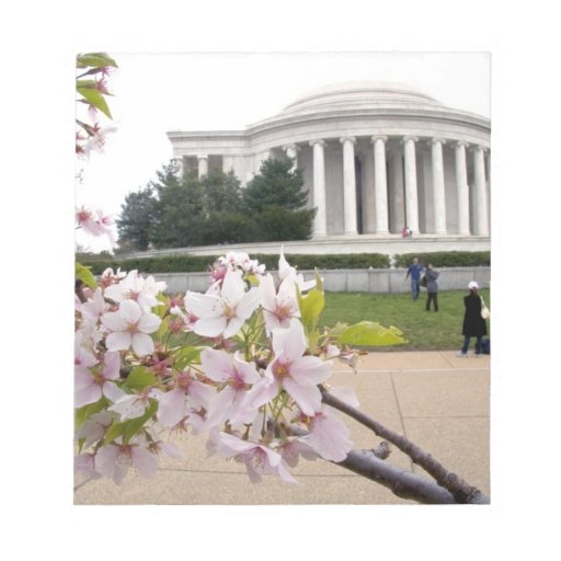 Thomas Jefferson Memorial with cherry blossoms Note Pad