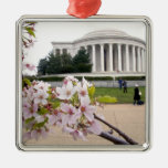 Thomas Jefferson Memorial with cherry blossoms Ornament