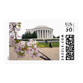 Thomas Jefferson Memorial with cherry blossoms Postage