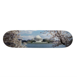 Thomas Jefferson Memorial with Cherry Blossoms Skateboard Deck