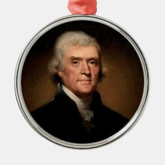 Thomas Jefferson Metal Ornament