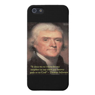 "Thomas Jefferson ""Neighbors Religion"" Quote Gifts Cover For iPhone SE/5/5s"
