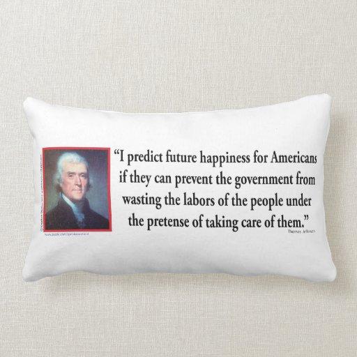 Thomas Jefferson on American Happiness Pillows