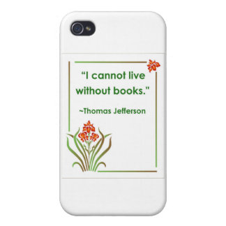 Thomas Jefferson on Books Case For iPhone 4