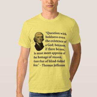 Thomas Jefferson on Faith T-Shirt
