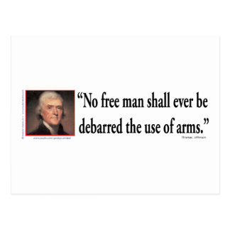 Thomas Jefferson on Gun Rights Postcard