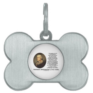 Thomas Jefferson Opinion Newspapers Without Gov't Pet ID Tags