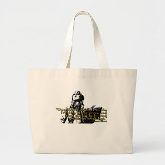 """Thomas Jefferson """"Our Liberty"""" Quote Large Tote Bag"""