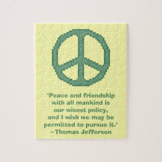 Thomas Jefferson Peace Quote Puzzle
