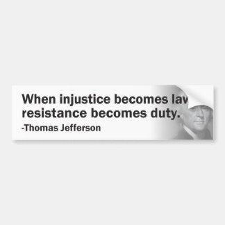 Thomas Jefferson Pegatina Para Auto
