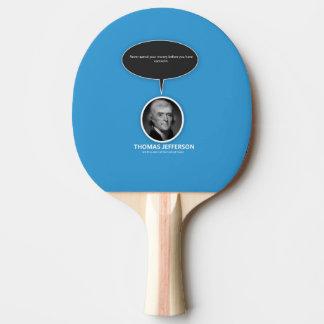 Thomas Jefferson Ping Pong Paddle