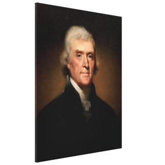 THOMAS JEFFERSON Portrait by Rembrandt Peale Gallery Wrapped Canvas