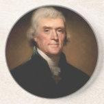 Thomas Jefferson Posavasos Personalizados