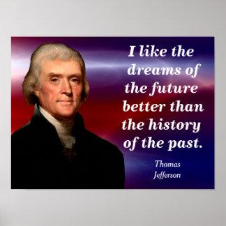 Thomas Jefferson - poster de la cita Póster