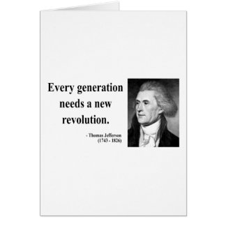 Thomas Jefferson Quote 11b Card
