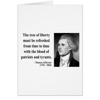 Thomas Jefferson Quote 12b Card