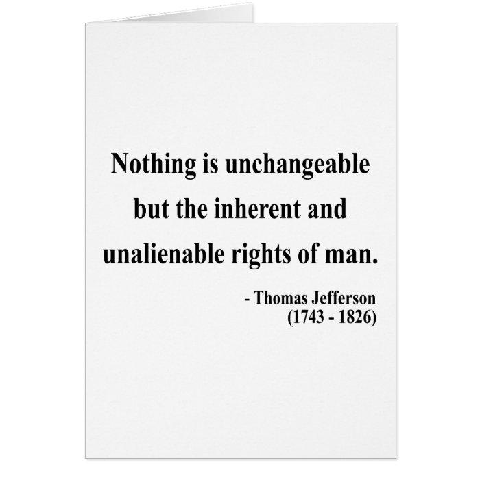 Thomas Jefferson Quote 14a Card