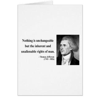 Thomas Jefferson Quote 14b Card
