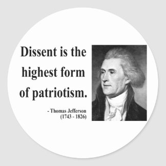 Thomas Jefferson Quote 15b Classic Round Sticker
