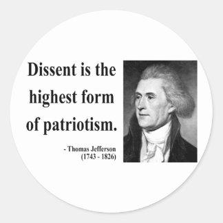 Thomas Jefferson Quote 15b Round Sticker