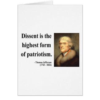 Thomas Jefferson Quote 15c Card