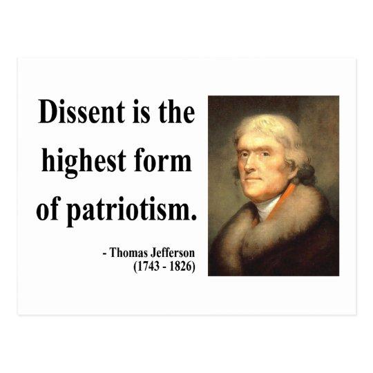 Thomas Jefferson Quote 15c Postcard
